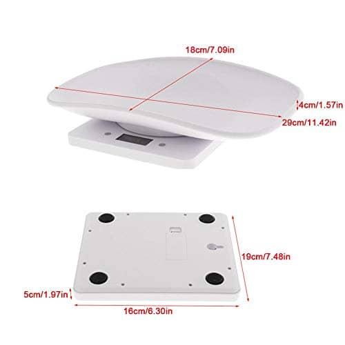 Balance pour Animaux de Compagnie permettant de mesurer la précision du Poids du Chat/Chien Capacité 10 kg avec Une précision de 1 g sur la Palette