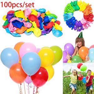 Buimin 100pcs 12 Pouces Ballons d'anniversaire de Mariage Grad Grad Party Assortis décor coloré Ballons Happy Birthday Anniversaire Fournitures Décorations Ballon rempli de confettis (100PC A)
