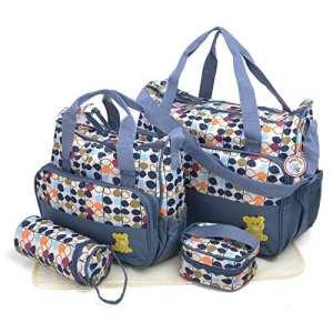 Ensemble de sacs à langer 6pièces Babyhugs – Avec système de rangement spécial