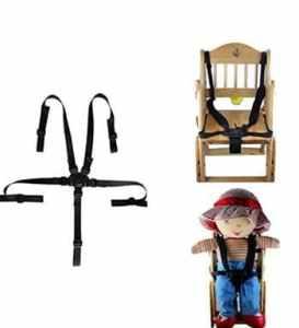 Esta.east Ceinture De Sécurité à Cinq Points pour Poussette Bébé,Ceinture De Siège De Voiture/Chaise pour Enfant
