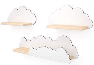 Lot de 3 étagères nuages pour chambre d'enfant ou chambre d'enfant