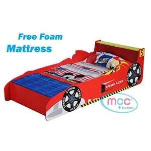 MCC Lit rouge voiture de course / Formule 1 pour jeunes enfants / garçons
