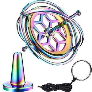Norme Gyroscope Toupie Anti-Gravité en Métal Jouet de Balance de Gyroscope Cadeau Éducatif Coloré