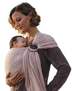 Porte-bébé de luxe en bambou et tissu en lin, soutien complet et confort pour les nouveau-nés, les nourrissons et les tout-petits – Meilleur cadeau de fête prénatale – excellent pour les hommes