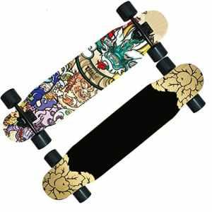 Skateboard SkaterTrainer Planche de danse / skateboard route garçons / scooter adulte / la longue brosse de piste de danse à deux roues Street ou adultes enfants débutants filles garçons ( Color : J )