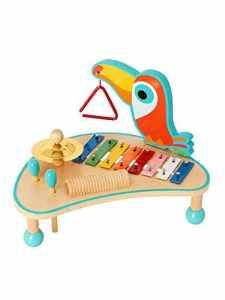 VERTBAUDET Table d'activités musicales en bois Multicolore TU
