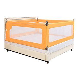6-WUTOLUOHANS Rails de lit d'enfants de bébé, barrière de lit Bébé déflecteur de Balustrade de Garde-Corps de rambarde incassable (Trois tranches) ((Taille : 180×200cm)