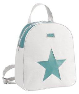 Alondra Ocean–sac à dos Maternal de cuir synthétique, blanc/vert