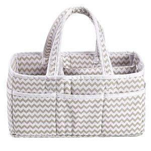 Incarpo bébé Panier de rangement pliable Diaper Caddy Organiseur Portable Grand sac de chambre d'enfant
