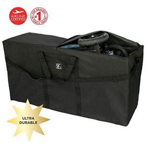 JL Childress Standard and Double Stroller Travel Bag (Black)