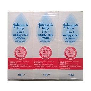Johnsons Baby Crème 3 en 1 avec oxyde de zinc 110 g