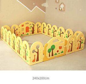KAPR Clôture de clôture de clôture de clôture d'enfants de clôture d'enfant en Bas âge Pliable Portable Portable Solide barrière de sécurité Durable