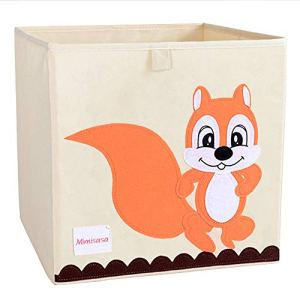 Boîte à jouets boîte de organisation cabinet chambre d'enfant pour vêtements, jouets (Écureuil)
