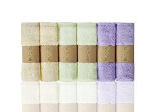 Débarbouillettes de Bambou Bébé (6 paquets) Ultra-Douces serviettes super absorbantes Doux sur la peau sensible pour les nourrissons, les tout-petits Naturellement antibactérien