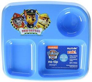 Zak Designs Toddlerific Assiette pour enfant à 3sections
