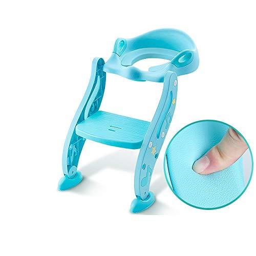 WXCymhy Toilette Enfant à escalier Bleu, Petite Toilette Universelle for bébé et Enfant bébé, urinoir for Enfants Produit pour bébé