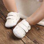 TMEOG , Sandales Compensées bébé Fille – – Silver Stars, 6-12 Mois