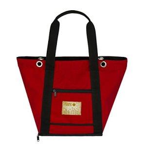 Mami–Sac nursery/à langer avec matelas et poches, grande et légère, universelle pour poussette/landau avec crochets ou bandoulière, Made in Italy, imperméable et incassable Moderne Noir et rouge