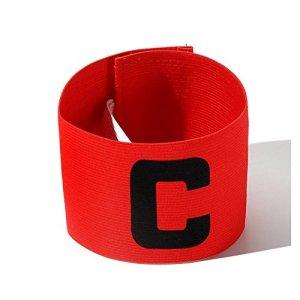 RONSHIN Les Sports Casque de Football de Couleur vive Football Brassard Magic Tape Conception Anti-Goutte pour Adultes et Jeunes Red