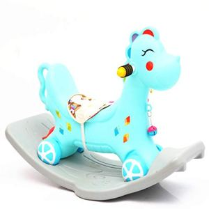 Wanlianer-Baby Products Nouveau-né à Toddler Safety Horse modelage Jouet pour Enfants Rocker Jouet antidérapant (Couleur : Bleu)