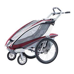 Susulv-baby Ingle Siège Pliable Beton Remorques de vélo, avec 2-en-1 Canopy et 16 Pouces Roues for Les Enfants et Les Enfants Se convertit en Poussette/Jogger (Couleur : Rouge, Taille : Free Size)