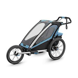 Un siège pliable Beton vélo Remorque, poussette Jogger for Convertis, Avec 2-in-1 Canopy for les enfants et les enfants Se convertit en poussette / jogger ( Couleur : Bleu , Taille : Free size )