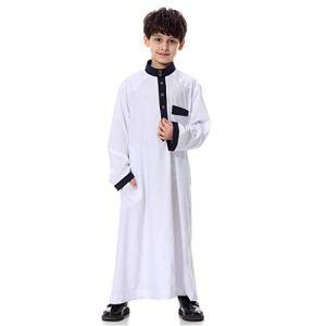 Viewk La dernière en 2042 Mans à Manches Longues Solide Arabo-saoudien Islamique Musulman Dubaï Robe pour Les garçons