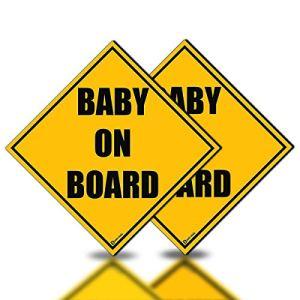 Zento Deals Lot de 2 Panneaux magnétiques réfléchissants Baby on Board