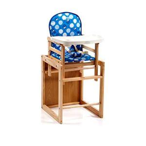 WM Home Chaise de Salle à Manger pour Enfant réglable en Hauteur pour Enfant Portable Chaise Multifonction pour bébé Mangeant Une Table en Bois