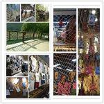 AIYIJIA Sécurité Protection sécurité de Garde-Corps de l'enfant Net Balcon escalier Net Chute prévention Chat décoration Net et Protection Chien Plafond Bar rétro Corde de Chanvre (Size : 3x6m)