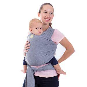 Écharpes de portage élastiques tout-en-un – Porte-bébé – Porte-nourrisson – Écharpe de portage – Écharpes de portage mains libres – Cadeau de naissance – Taille unique (gris classique)
