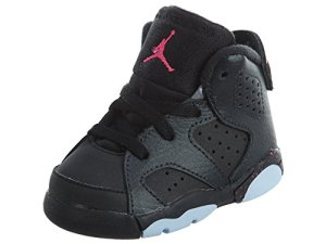 Jordan Retro 6 Hyper Pink Anthracite/Black-Black (Toddler) (7C)