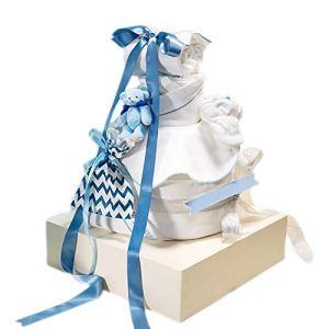 JUNBABY 13 pièces Boites à vêtements Coffret de présentation Ensemble Cadeau de Vacances Nouveau-né Essentials vêtements Taille Idéal Coton-Blue-M
