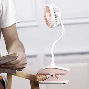 Ventilateur Poussette Mini Ventilateur USB Ventilateur à Clip Ventilateur Flexible à 360°Ventilateur Enfant Bébé Ventilateur Silencieux pour Maison Bureau Dortoir Camping Voyage