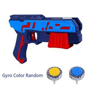 WXX Gyro Enfant Toy Gun Launcher Boy Fantaisie Glowing Ultra-Variable Combat Rotating Gyroscope Fingertip,Bleu