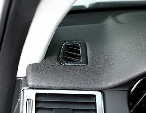 YIWANG – Autocollant pour tableau de bord en ABS – Style fibre de carbone – Chromé