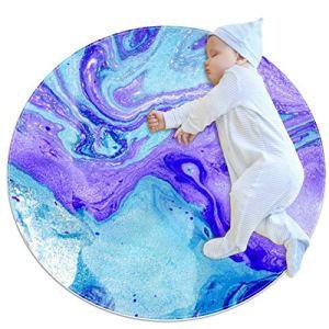ASDFSD Fantasy Background Tapis de jeu circulaire pour bébé rampant tapis de climatisation tapis pour chambre d'enfant 27,6×27,6IN