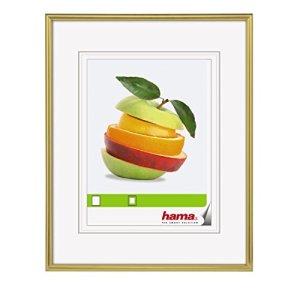 Hama Cadre photo en plastique «Décor Sevilla» (taille du Cadre de 30 x 40 cm avec bordure de 9 mm x 17 mm, pour une photo de 20 x 28 cm) Or Mat