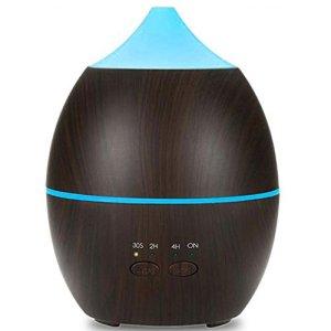 JSQ Diffuseur D'huile Essentielle Ultrasonique Mute Bois Grain Aromathérapie Machine 300 ML PP Humidificateur d'air Famille Yoga Bureau Spa Chambre (Color : B)