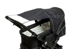 AltaBeBe AL7010-02 Protection Anti Soleil pour Poussette Universel Anti-UV 50+, Noir