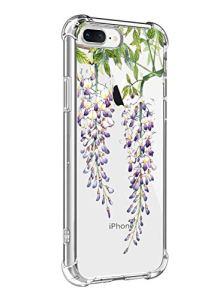 Suhctup Coque Comaptible avec iPhone 6/6S Étui Houssee,Transparent Motif Fleur [Antichoc Protection des Coins] Crystal Souple Silicone TPU Bumper Case Cover pour iPhone 6/6S,A12