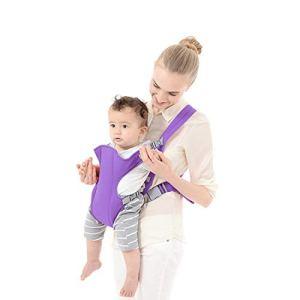 Zhangl Baby Products Sac à dos kangourou ergonomique en maille respirante pour bébé de 1 à 4 ans Bleu foncé