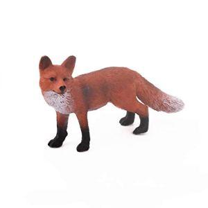 Hohe Simulation Lebensechte Nette Natur Wilde Tier Spielzeug Rotfuchs Modell Figur Action-figuren Kinder Lernspielzeug Wohnkultur – Rot