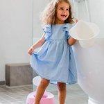 Kindsgut Pot pour bébé, toilette enfant pour l'apprentissage de la propreté, rose pâle