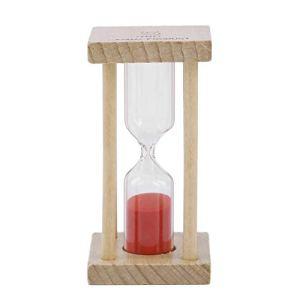 Monradbitt Sablier en Bois Sandglass Sand Clock Kids Tooth Brushing Minuterie Salle de Bain Décoration pour Votre Salon ou Chambre à Coucher