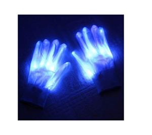 AKKY Gants Lumineux à LED,Gants de Main Squelette,lumière de Doigt LED garçons Enfants Spectacle de lumière Halloween noël Anniversaire Rave fête Fournitures Accessoires