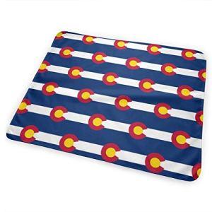 Colorado State Flag Tapis à langer portable réutilisable pour bébé 25,5 x 31,5 cm