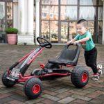 Luoshan Outdoor ctivités Divertissement Pedal Go Kart Riding Enfant Jouet Vélo 4 Roues