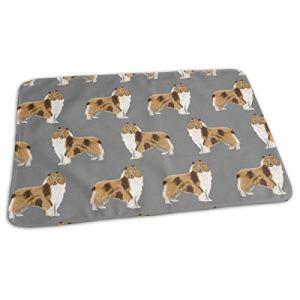 Rugh Collie Tissu pour chien Motif imprimé collie rugueux pour coudre, motif mignon chien, tapis à langer portable 25,5 x 31,5 cm