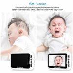 4,3 pouces LCD couleur vidéo numérique sans fil bébé moniteur avec Lullabies vision nocturne infrarouge à deux voies Talk Back Rappel des soins infirmiers bébé Pleurer Avertissement Température lumièr